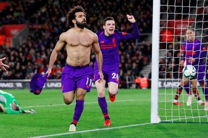 Salah Liverpool celebration