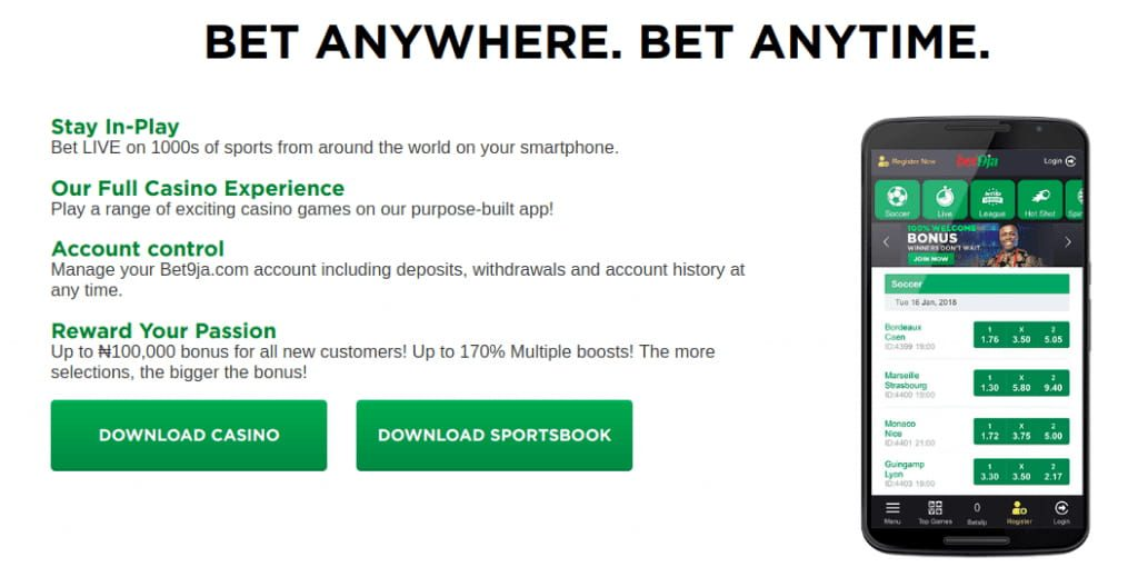 Bet9ja application for mobile betting