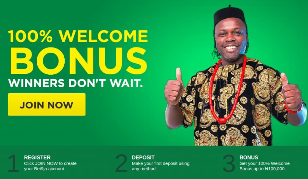 bet9ja mobile sign up bonus